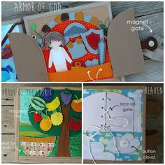 Bible stories Quiet book 20x20cm 1 page  Choose your by TomToy