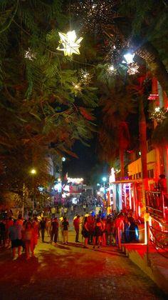 Enjoy a walk at night, Calle 12 (12th Street) in Playa del Carmen