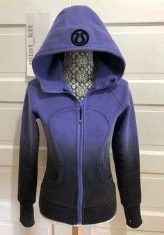 1508f87c9 Rare LULULEMON Scuba Hoodie II Sz 4 Dip Dye Persian Purple Black  128   fashion