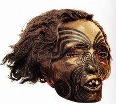 Mokomokai: The Preserved Heads of Maori Tribespeople - Maori Tattoos, Ta Moko Tattoo, Filipino Tattoos, Maori Tattoo Designs, Marquesan Tattoos, Face Tattoos, Tattoo Skin, Maori Tribe, Polynesian People