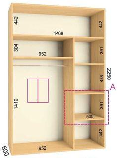 Standard Wardrobe Closet Design Guidelines - Engineering Discoveries Wardrobe Interior Design, Wardrobe Door Designs, Wardrobe Design Bedroom, Closet Designs, Closet Bedroom, Interior Work, Wardrobe Ideas, Closet Renovation, Closet Remodel