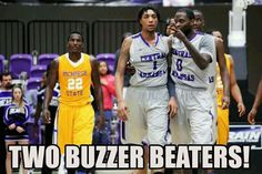 Jarvis Garner and Robert Crawford  in triple OT game against McNeese on 1-24-13
