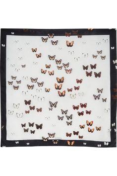 Givenchy|Square silk scarf 120cm x 120cm Butterflies|NET-A-PORTER.COM