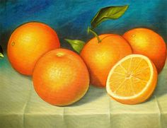 bodegon naranja Fruit Painting, Fabric Painting, Diy Painting, Painting On Wood, Still Life Pictures, Wine And Canvas, Cuban Art, Fruit Illustration, Beautiful Fruits