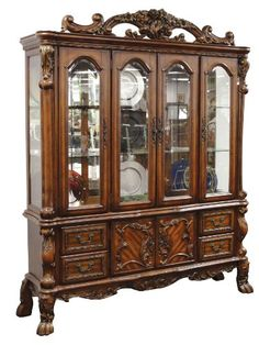 ACME 12155 Dresden Hutch and Buffet Cherry Oak Finish ** Read more  at the image link. (Amazon affiliate link)
