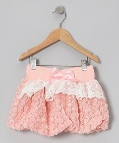 Take a look at this Peach Rosette Bubble Skirt - Toddler & Girls by Just Fab Girls on #zulily today!