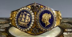 Bracelet made for Princess Alice from her parents Queen Victoria and Prince Albert on the occasion of her wedding. Recently found in a private collection, and now on the auction block.
