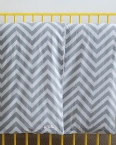 Cot Duvet Set inc 1 pillowcase in grey chevron.100 x 120cmMade in Australia from 100% cotton.All fabrics exclusive to red plum linen