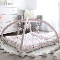 ♡ Activity Mat - Spring Foral. Ready to ship ♡ Pastel Pink, Pink Grey, Activity Mat, Sensory Toys, Pink Aesthetic, Bag Storage, Toddler Bed, Custom Design, Nursery