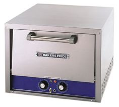 "Bakers Pride Oven Countertop - P18S    Pizza/Pretzel Oven, countertop, electric, single compartment, two removable 18""W x 18""D Cordierite ceramic hearth decks, 300°F - 650°F thermostat, 15 min. mechanical timer, s/s exterior"