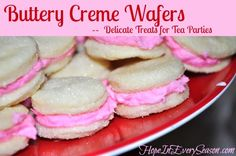 Hope In Every Season: An Eighteenth Century Tea Party with Buttery Creme Wafers