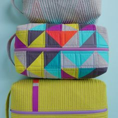 Sew Katie Did | Seattle Modern Quilting and Sewing Studio | Patchwork Box Pouches