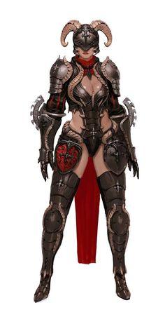 goat medieval female armor