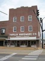 Where Elvis bought his first guitar, Tupelo Hardware Co. in Mississippi.