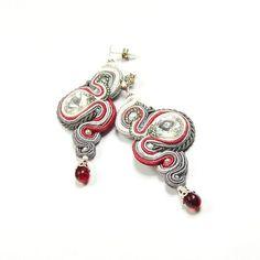 Soutache Earrings with Swarovski Crystal