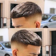No photo description available. Short Fade Haircut, Crop Haircut, Short Hair Cuts, Short Hair Styles, Cool Hairstyles For Men, Hairstyles Haircuts, Haircuts For Men, Barber Hairstyles, Barber Haircuts