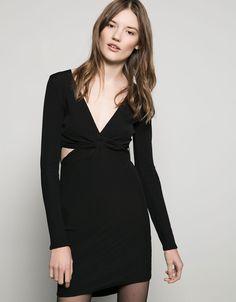Vestido nudo cintura con cremallera - #FIESTA #NIGHT COLLECTION - Bershka España - 29.39 €