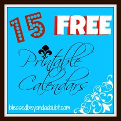 15 FREE 2013 Printable Calendars!  Lots of cute ones!    Which was is your favorite?    #calendar #2013printablecalendar
