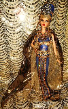 Nefertiti barbie doll ooak