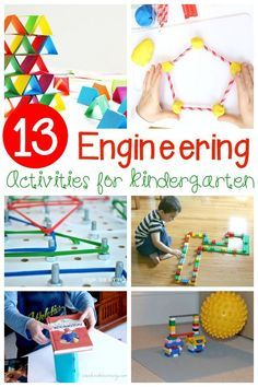 A must-try collection of hands-on, educational, and FUN engineering activities for kids! Such great STEM activities for Kindergarten!