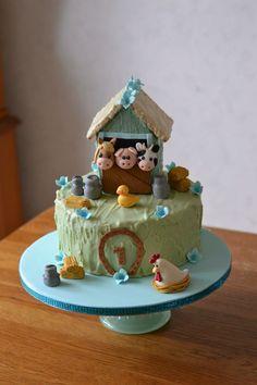 Farm animals cake for my 1 y o sons bday