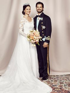 Introducing Princess Sofia! The Best Photos from the Swedish Royal Wedding | Princess Sofia and Prince Carl Philip | The royal couple posed for their official portrait.