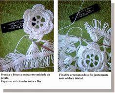 Fabianne Castilho: Pap Pentagonal da Túnica Eliana Crochet Pants, Crochet Skirts, Crochet Poncho, Thread Crochet, Love Crochet, Crochet Hooks, Crotchet Patterns, Crochet Motifs, Crochet Doilies