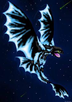 Glowing Night Fury by SnowstormSpirit2285 on DeviantArt