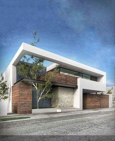 House modern exterior architecture beautiful Ideas for 2019 Modern Architecture House, Facade Architecture, Modern House Design, Amazing Architecture, Contemporary Design, Contemporary Houses, Landscape Architecture, Villa Design, Facade Design