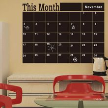 Monthly chalkboard Board Blackboard Removable Wall Sticker Decor Month Plan Calendar Chalkboard DIY(China (Mainland))