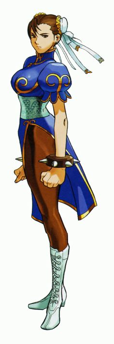 Chun Li from Street Fighter. Chun Li, Street Fighter Characters, Female Characters, Street Fighter Hadouken, Street Fighter Tekken, Character Art, Character Design, Manga Anime, Art Of Fighting