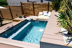 Terrasse Design, Mini Spa, Concrete Pool, Small Pools, Terrazzo, Kitchen Decor, Pergola, Backyard, Indoor