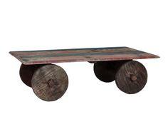 Table basse bois de rose, marron - 180*45
