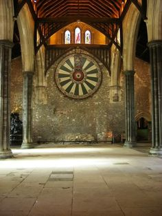 The Great Hall in Winchester Castle, Hampshire, England. Built for Henry III in 1222 IVE BEEN HERE!!