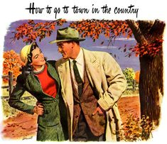 10 Fall Date Ideas--from the Art of Manliness Vintage Fall, Vintage Love, Vintage Prints, Vintage Posters, Vintage Men, Vintage Romance, Vintage Paintings, Romance Art, Vintage Stuff