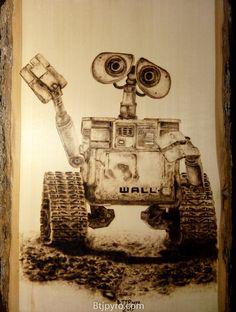 WALL-E - Wood burning by brandojones.deviantart.com on @deviantART