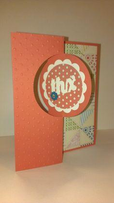 Stampin Up Thinlets Circle card