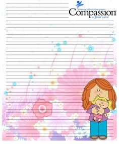 Compassion International stationary for sponsored kids. Compassion International, Writing Paper, Names Of Jesus, Children, Kids, Stationary, Young Children, Young Children, Boys