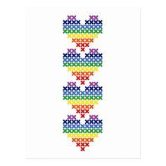 Shop Cross stitched rainbow hearts postcard created by Minichka. Cross Stitch Tattoo, Tiny Cross Stitch, Cross Stitch Heart, Cross Stitch Designs, Cross Stitch Embroidery, Cross Stitch Patterns, Cross Stitches, Loom Patterns, Hello Kitty Wallpaper