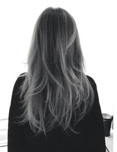 Black to grey ombre.
