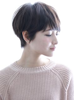 cut: pixie with side swept bangs