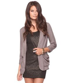 Light Layering Jacket. love the long jacket over a dress