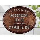 Personalized Welcome Established House Plaque would make a nice wedding present.