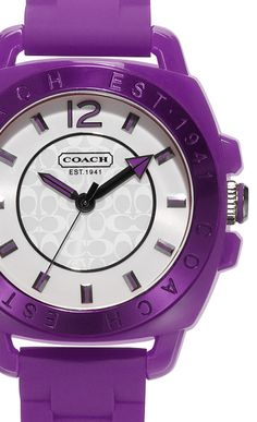 Purple/Eggplant and royal/cobalt blue are my thing this year! Purple Coach Watch