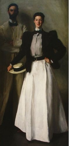 Edith Minturn later married Isaac Newton Phelps Stokes in 1895 and is famously known today as the subject in this John Singer Sargent portrait. John Singer Sargent, Family Portrait Painting, Family Portraits, 1890s Fashion, Victorian Fashion, Victorian Era, Women's Fashion, Outdoor Fashion, Street Style