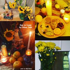 Offerings for the Orisha Oshun. For more info on Vodou, Santeria, Lucumi, Candomble and more see my blog Voodoo Universe - link in my bio.
