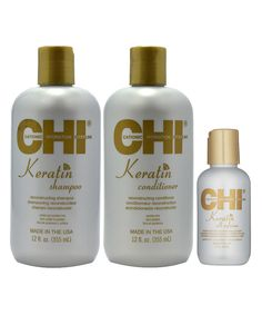 This CHI Keratin Shampoo, Conditioner & Silk Infusion Serum Set by CHI is perfect! #zulilyfinds
