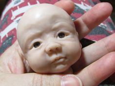 polymer clay baby work in progress