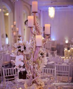 arreglo floral para bodas. Candles for your wedding.