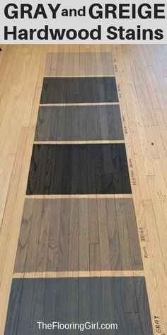 Gray and greige blended stains from for hardwood floors.  Check out these new stain colors.  #gray #greige #hardwood #staincolors #hardwoodflooring #refinish #homedecor #duraseal
